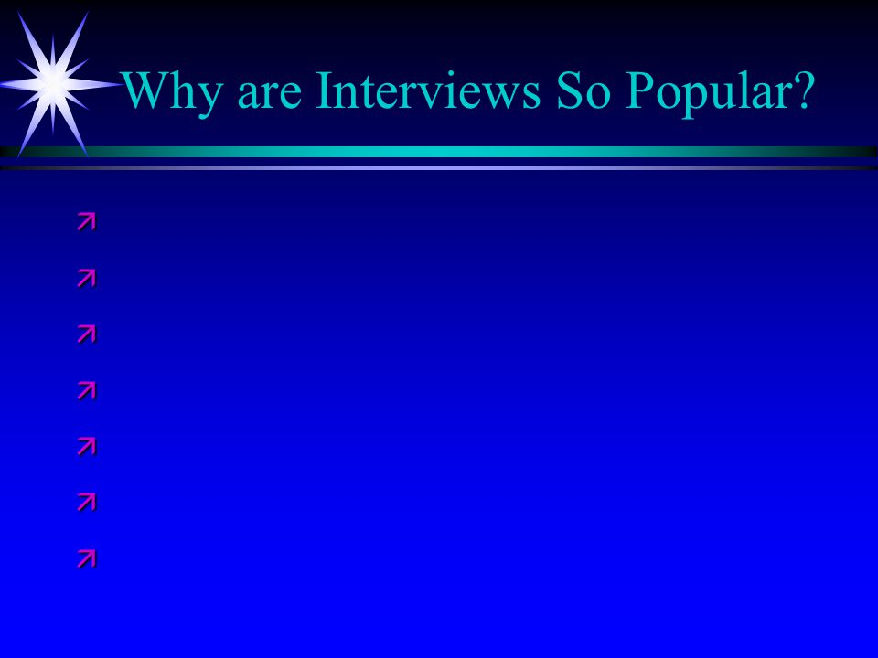 Why are Interviews So Popular ä ä ä ä ä ä ä