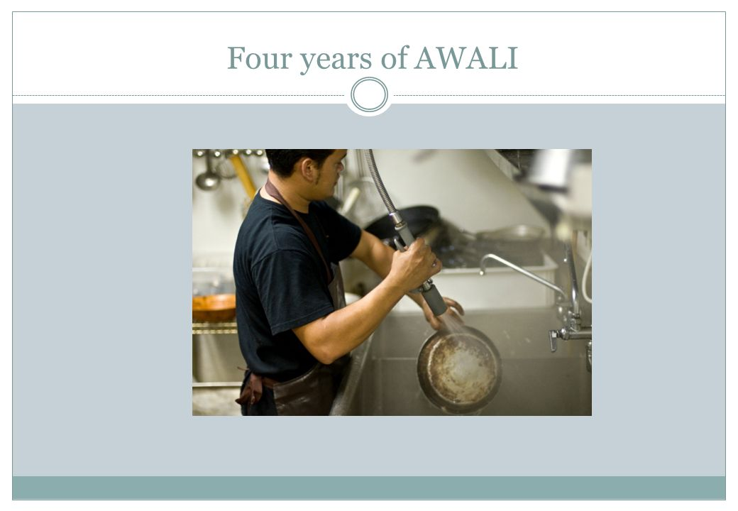 Four years of AWALI