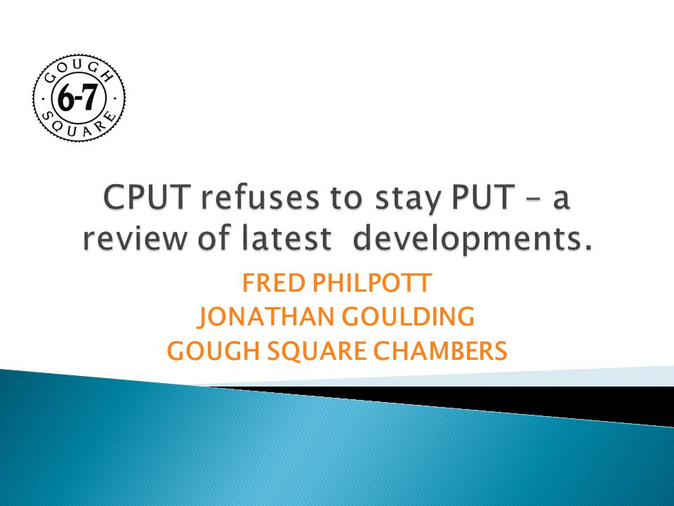 FRED PHILPOTT JONATHAN GOULDING GOUGH SQUARE CHAMBERS