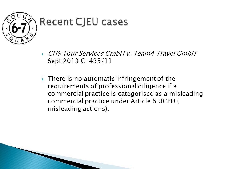  CHS Tour Services GmbH v.