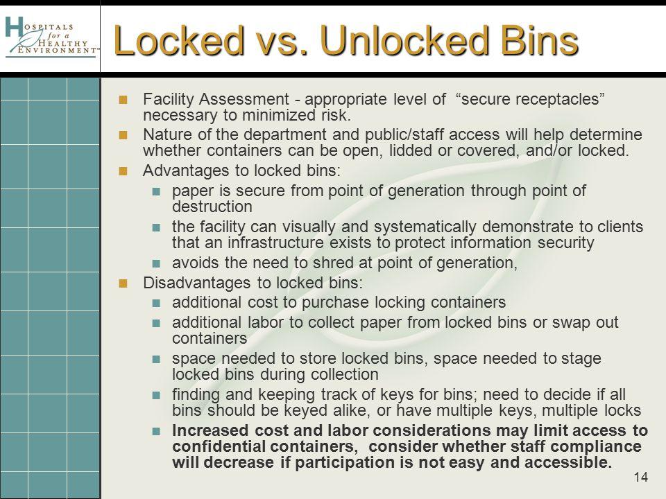 14 Locked vs.