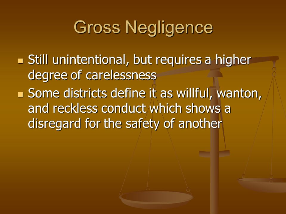 Negligence Defenses Assumption of risk Assumption of risk Risk is inherent to the sport Risk is inherent to the sport Inherent risk is one which cannot be removed without fundamentally altering the activity Inherent risk is one which cannot be removed without fundamentally altering the activity Participant must voluntarily consent to be exposed to the risk Participant must voluntarily consent to be exposed to the risk Consent may be express or implied Consent may be express or implied Consent is only within rules of activity Consent is only within rules of activity Participant must know, understand, and appreciate the inherent risk of the activity Participant must know, understand, and appreciate the inherent risk of the activity Difficult to prove with regards to children Difficult to prove with regards to children