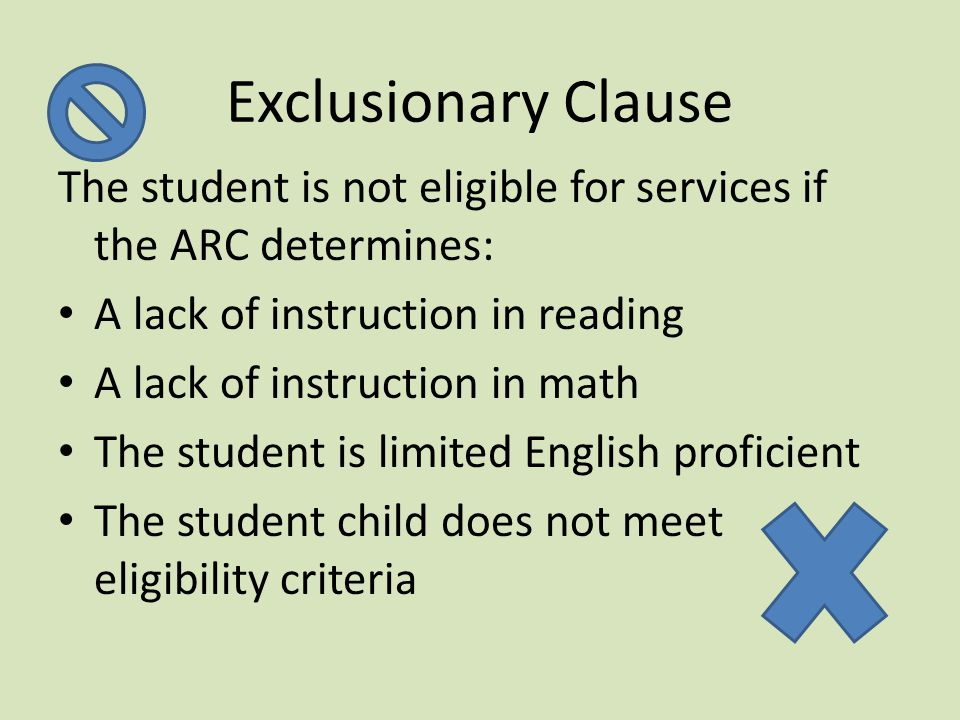 Eligibility Determination: Adverse Affect 3.