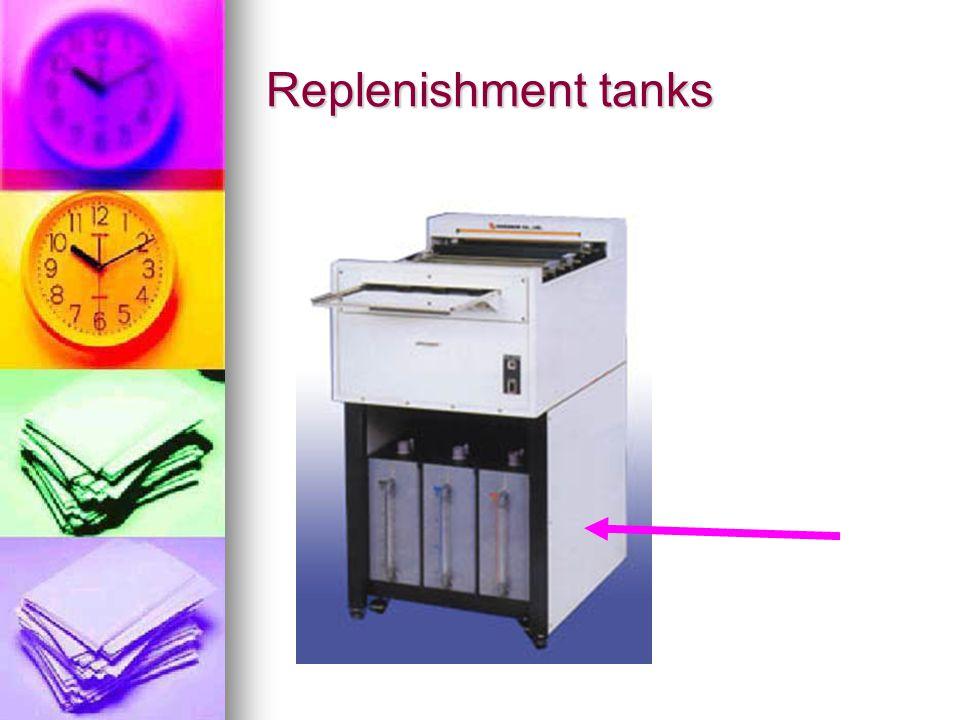Replenishment tanks