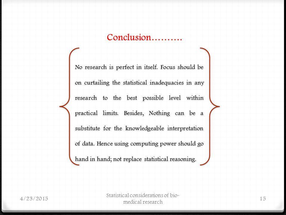 Conclusion……….