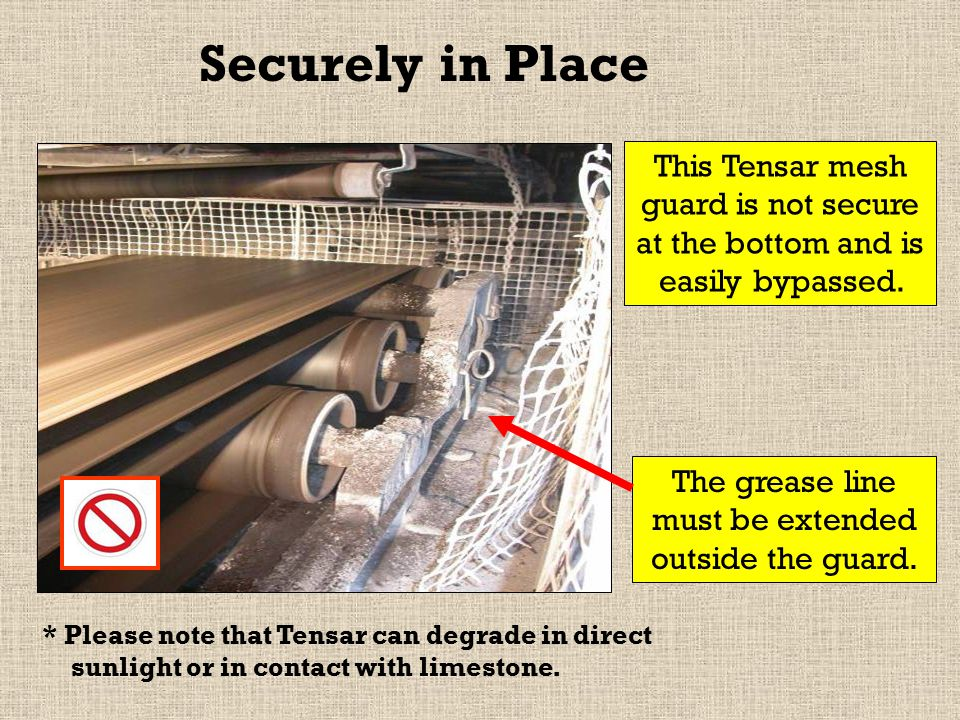 This Tensar mesh guard is not secure at the bottom and is easily bypassed.