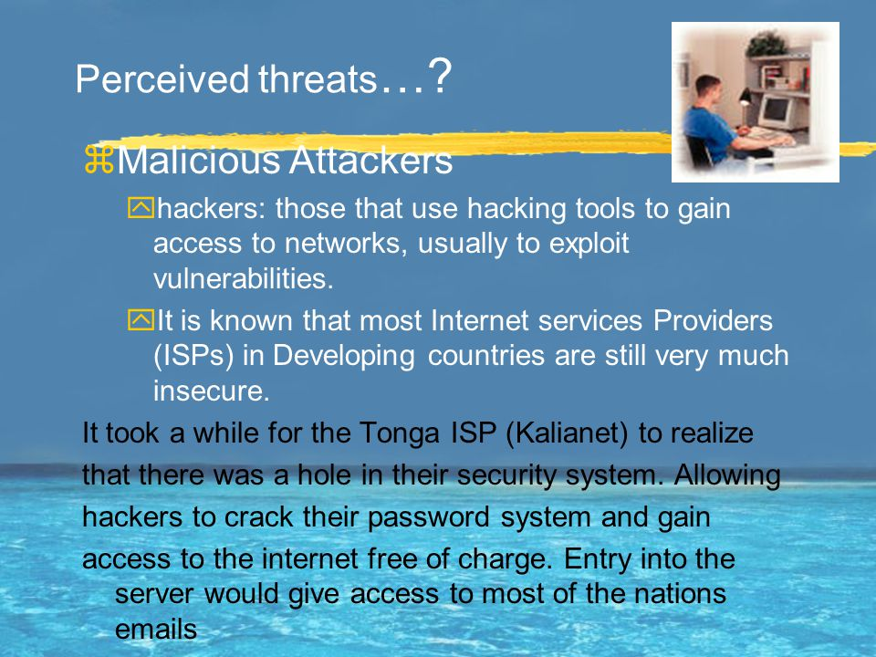 What are these threats…as perceived by many.