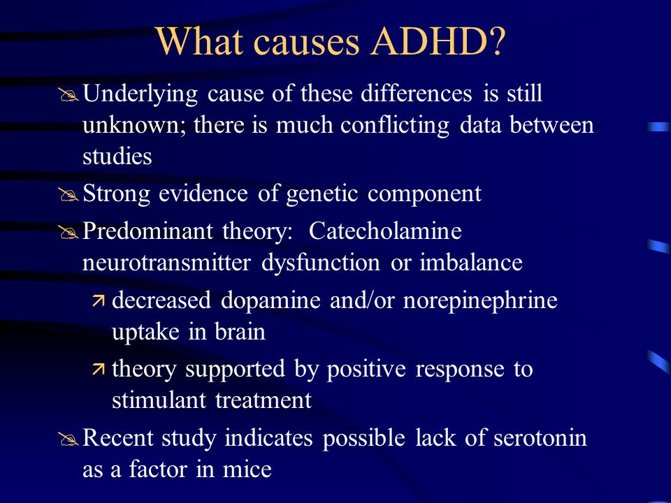What causes ADHD.