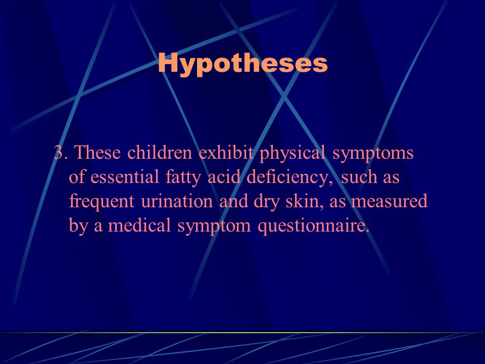 Hypotheses 3.