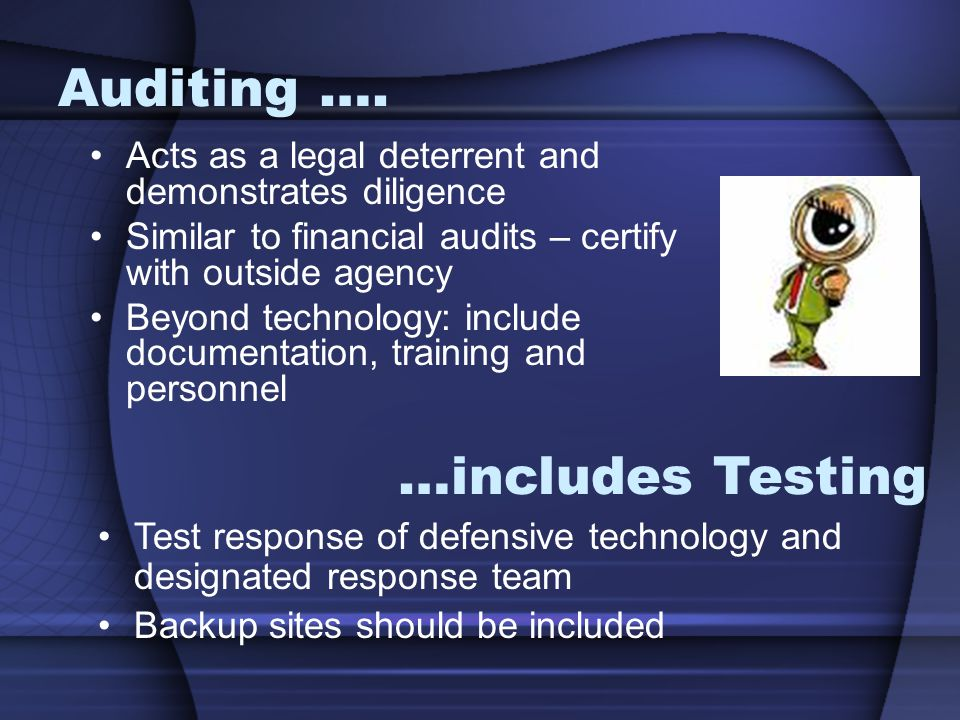 Auditing ….