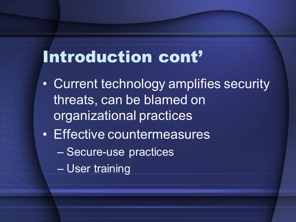 Secure Use Practices: Policies