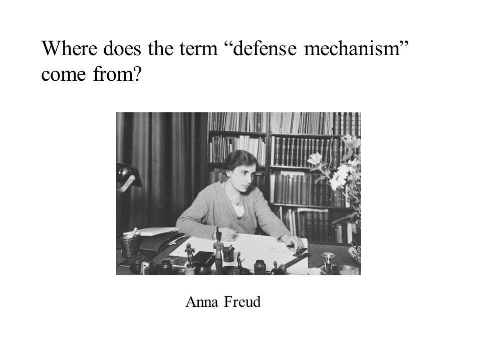 "Where does the term ""defense mechanism"" come from? Anna Freud"