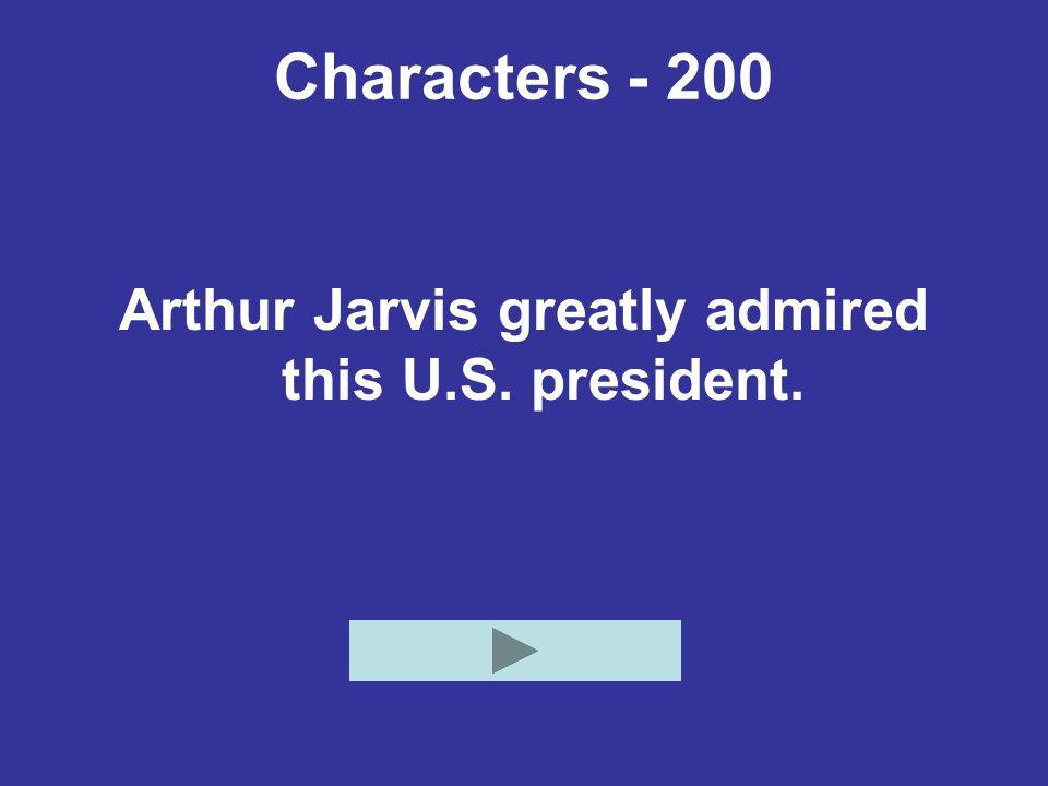 Potpourri - 1000 Who is Arthur Jarvis?