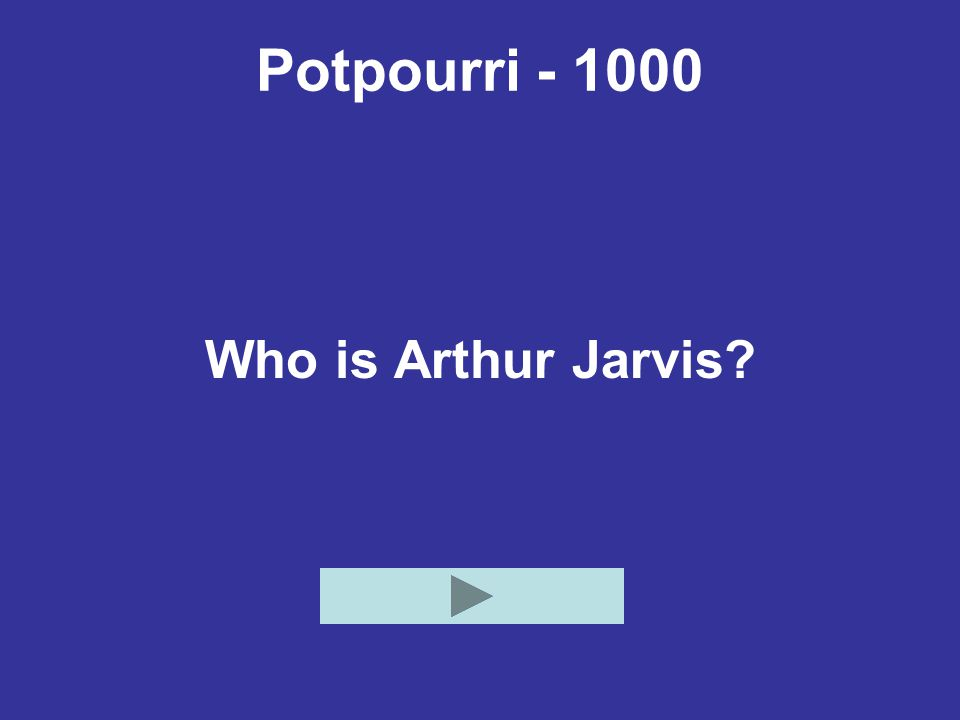 Potpourri - 1000 Who is Arthur Jarvis?