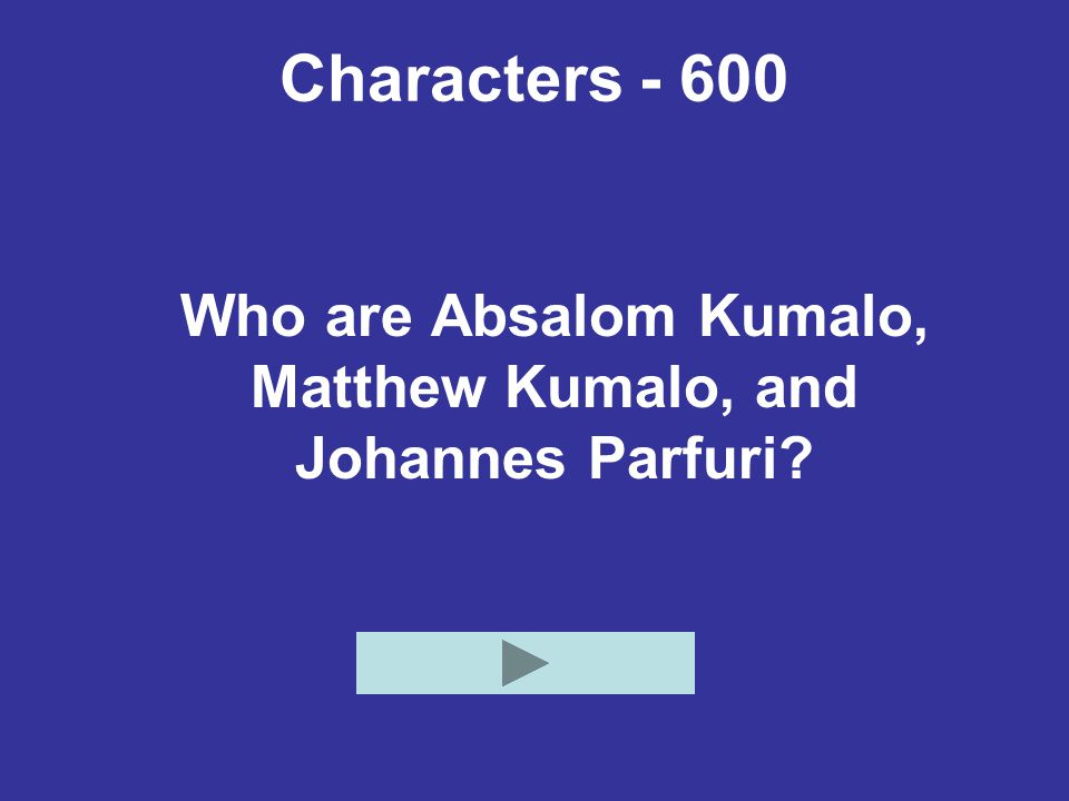 Characters - 800 This character scolds Gertrude for her careless behavior, and scolds Absalom's girlfriend for talking idly.