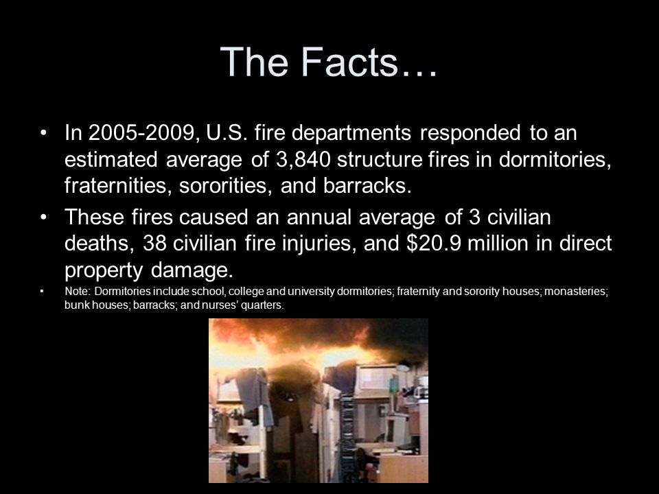 The Facts… In 2005-2009, U.S.