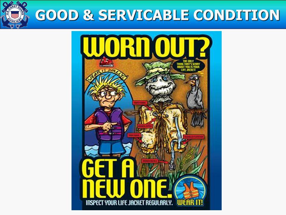 GOOD & SERVICABLE CONDITION GOOD & SERVICABLE CONDITION