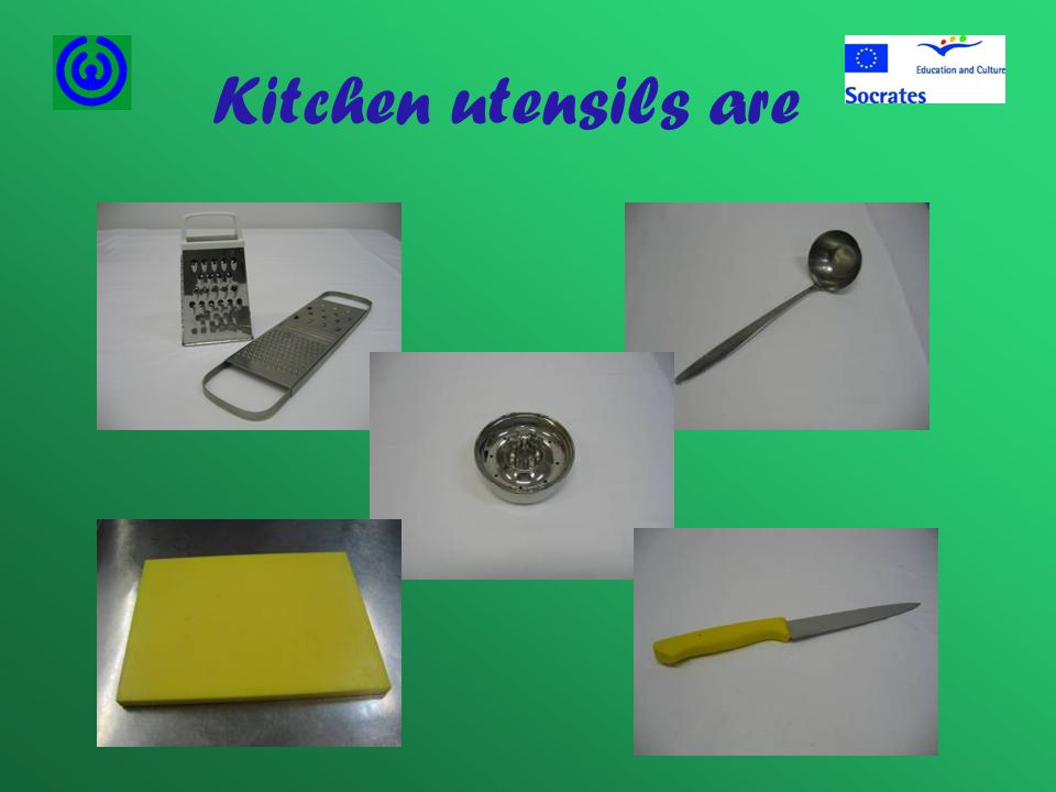 Kitchen utensils are