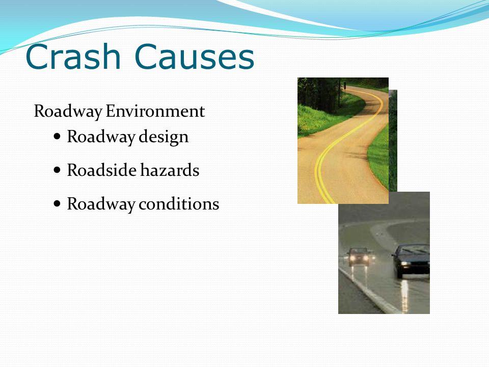 Crash Causes Roadway Environment Roadway design Roadside hazards Roadway conditions