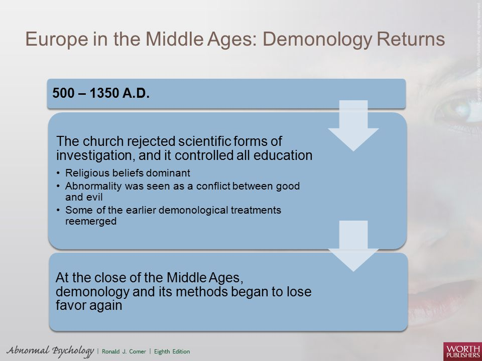 Europe in the Middle Ages: Demonology Returns 500 – 1350 A.D.