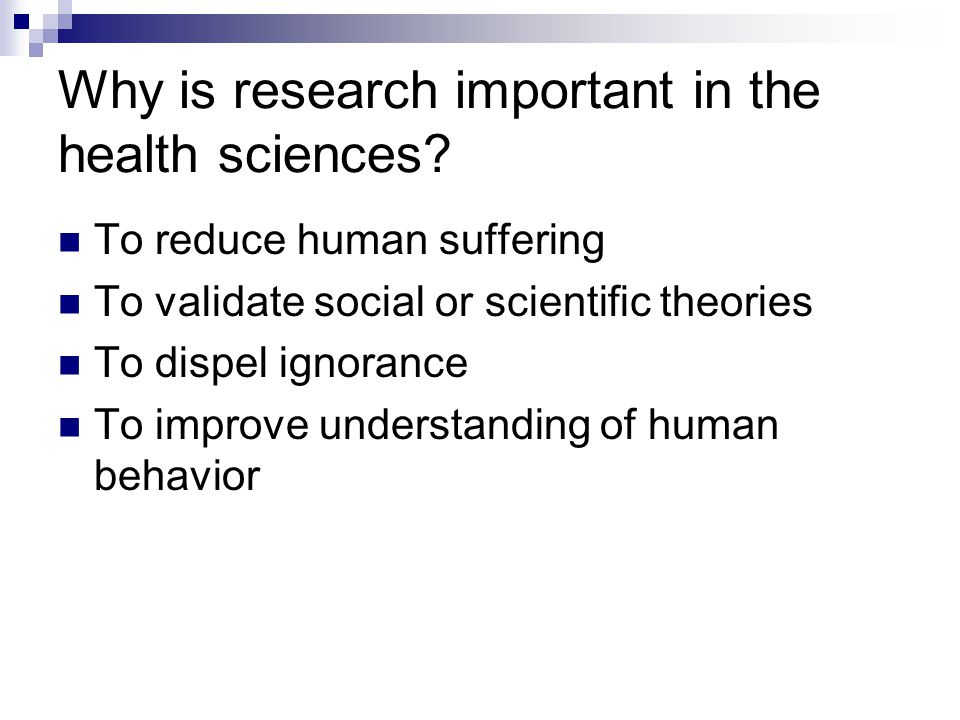 Why is research important in the health sciences.