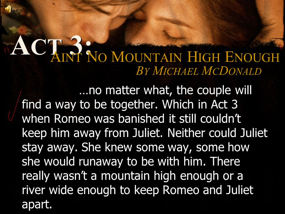 BY MICHAEL MCDONALD …no matter what, the couple will find a way to be together.