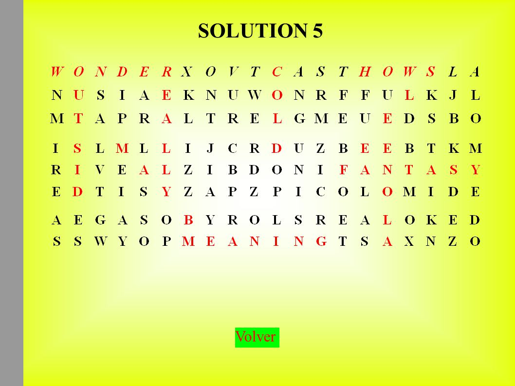 SOLUTION 5 Volver