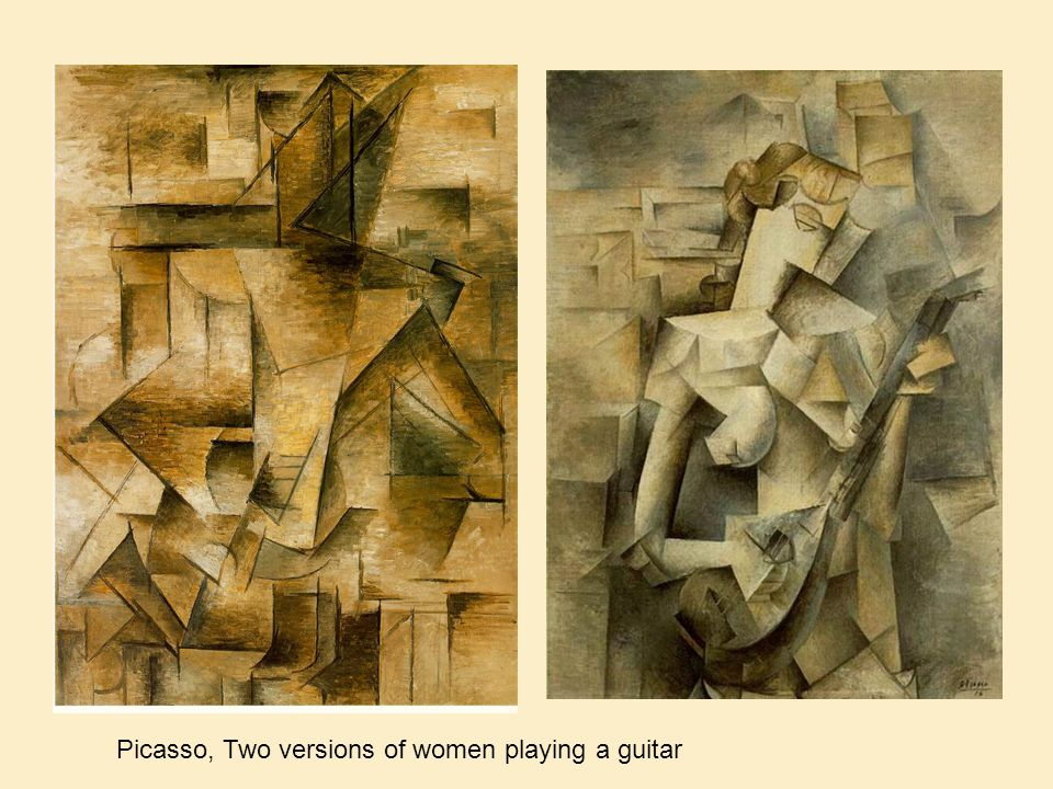 Picasso, Two versions of women playing a guitar