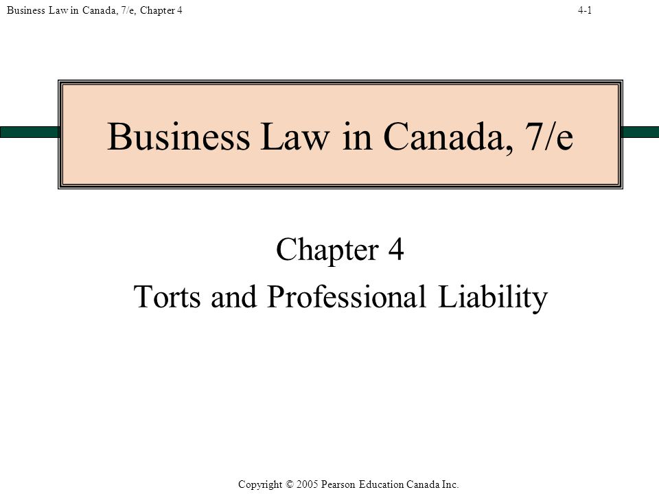 Copyright © 2005 Pearson Education Canada Inc.