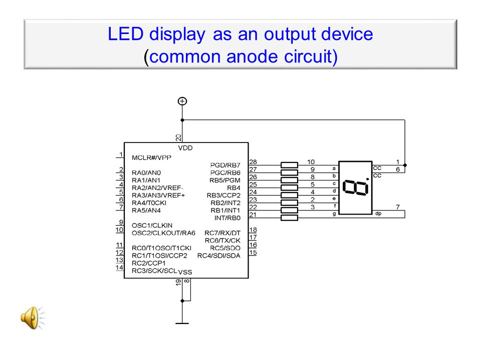 ATTENTION! Do not forget the protection diode D1! Relay as an output device
