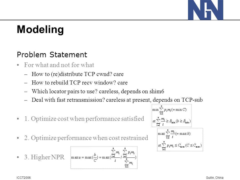 Guilin, China ICCT2006 Simulation Results Optimize Natural Price Ratio