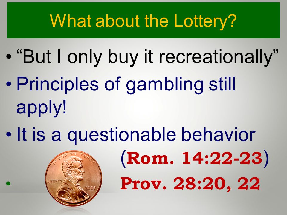 What about the Lottery. But I only buy it recreationally Principles of gambling still apply.