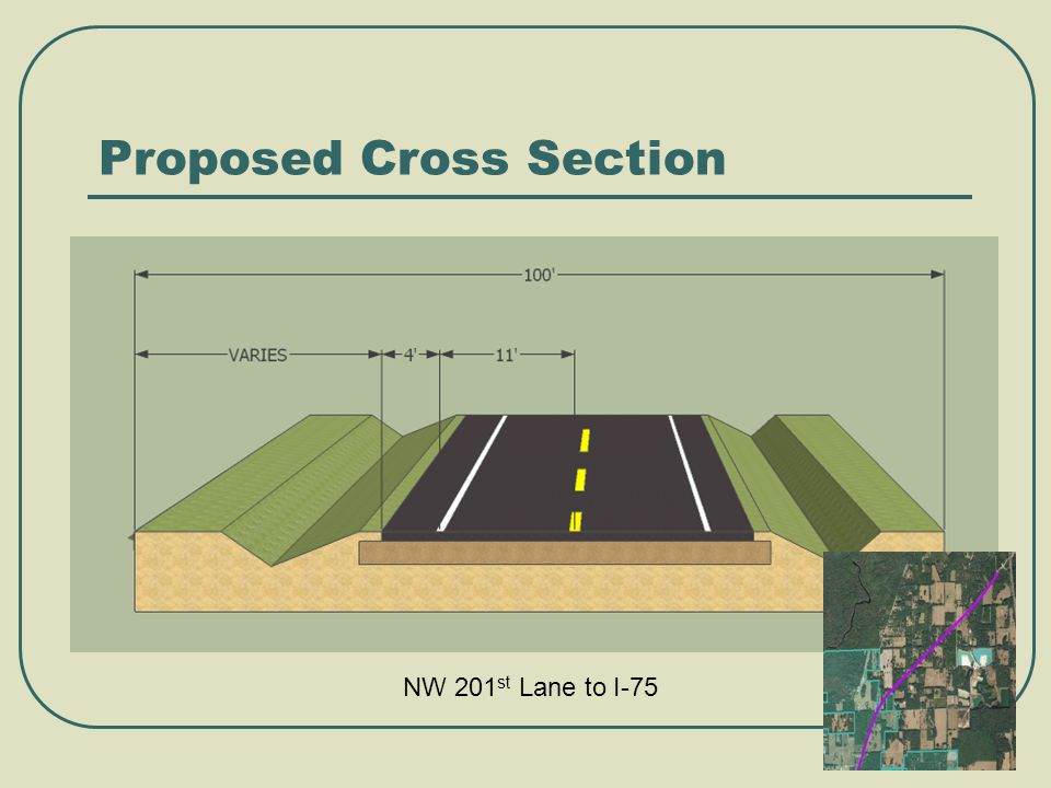 Proposed Cross Section NW 201 st Lane to I-75
