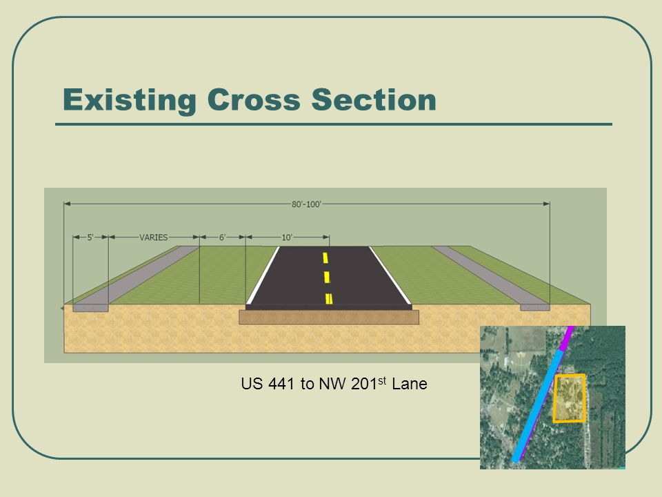Existing Cross Section US 441 to NW 201 st Lane