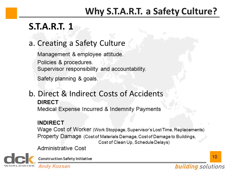 10 Construction Safety Initiative 10 Why S.T.A.R.T.