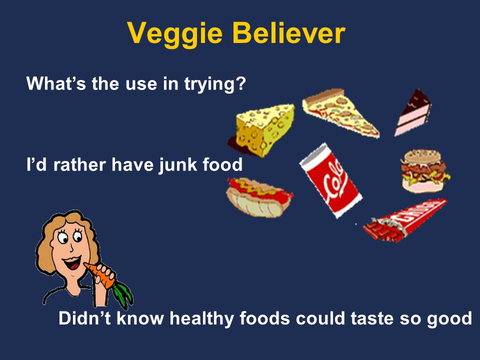 Veggie Believer What's the use in trying.