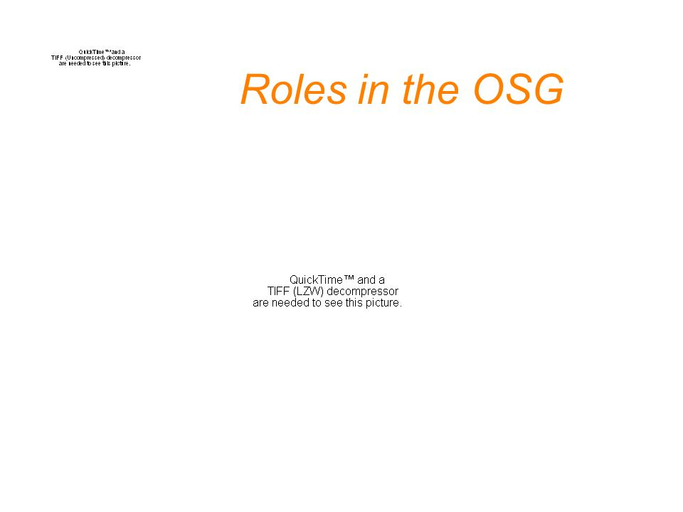 Roles in the OSG