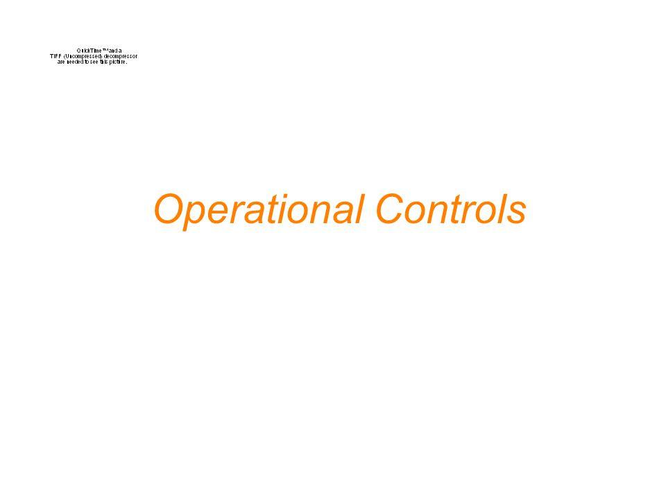 Operational Controls