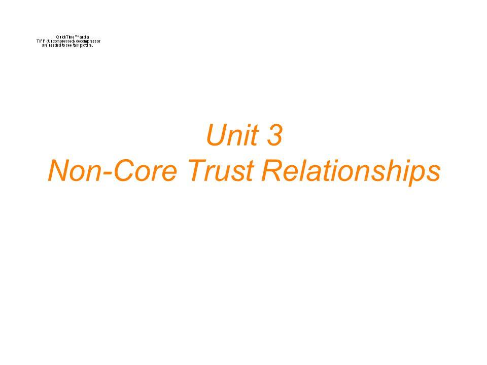 Unit 3 Non-Core Trust Relationships