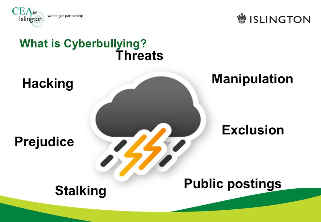 working in partnership What is Cyberbullying.