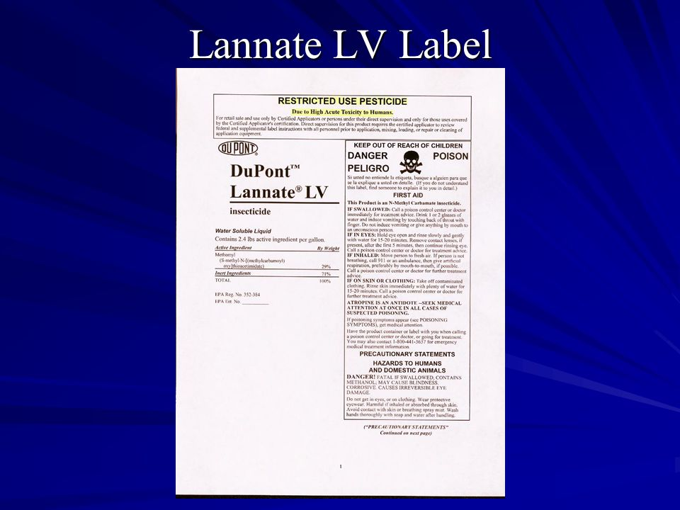Lannate LV Label