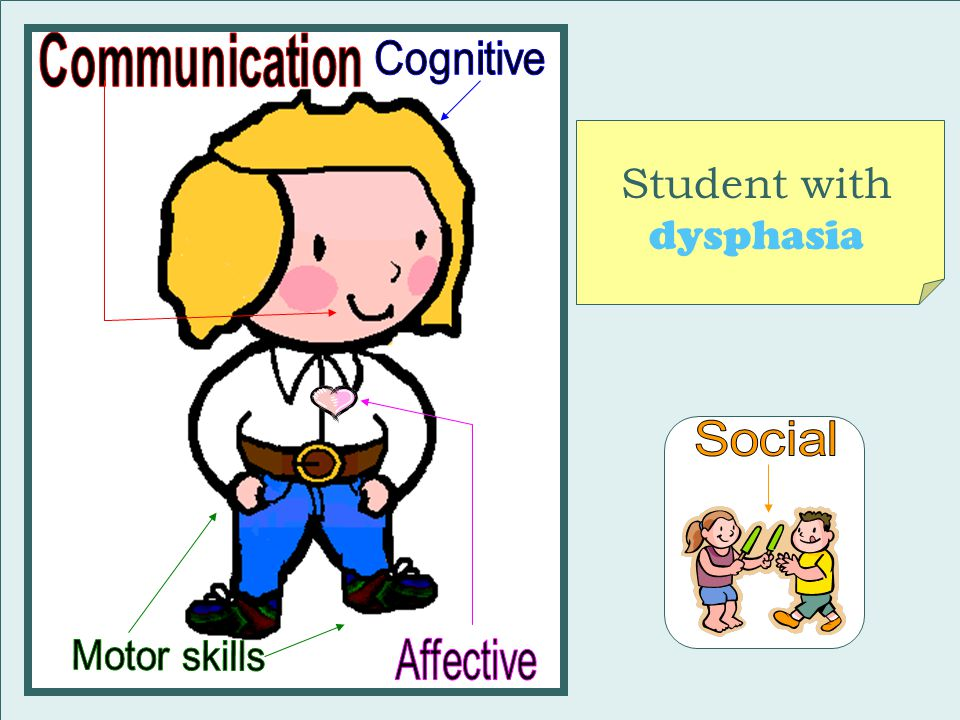 Student with dysphasia