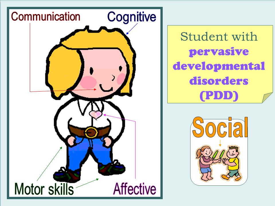 Student with pervasive developmental disorders (PDD)