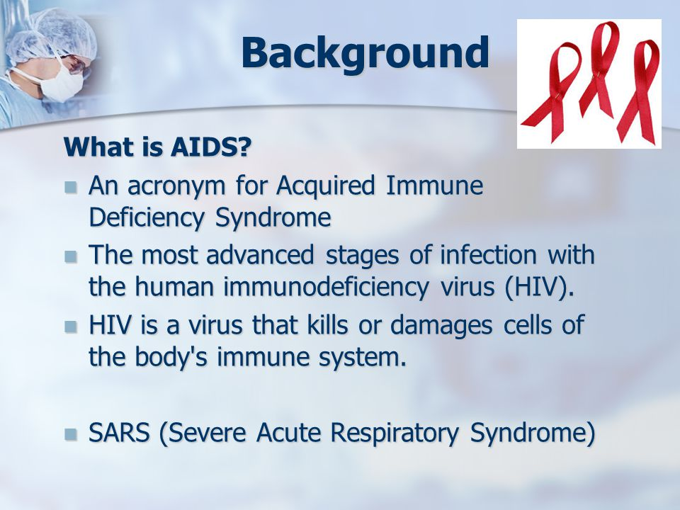 Background What is AIDS.