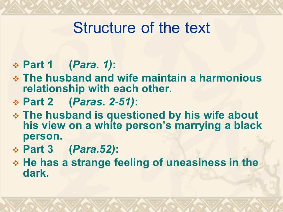 Structure of the text  Part 1(Para.