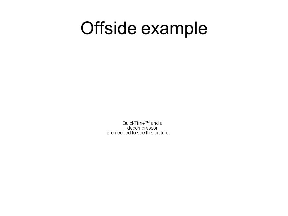 Offside example