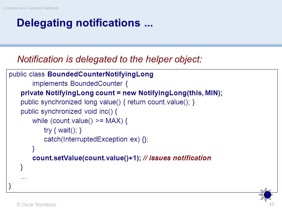 Delegating notifications...