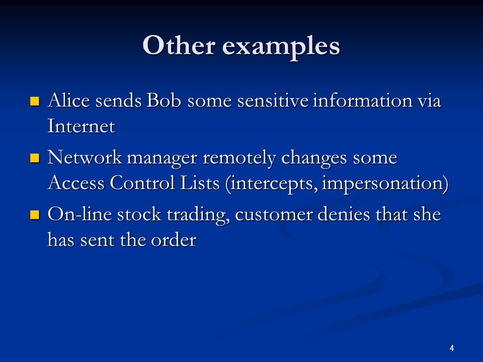 45 Information Flow control Bell LaPadula (BLP) model Bell LaPadula (BLP) model Simple security property: no read up Simple security property: no read up *-property: no write down *-property: no write down