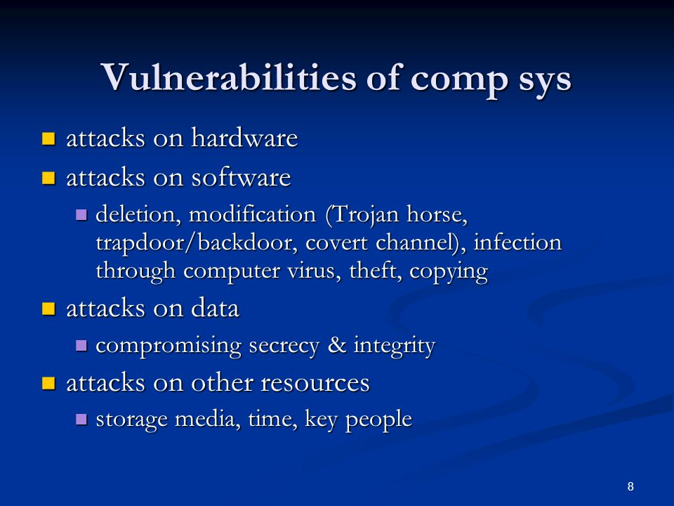 29 Man-in-the-middle attack Is an attack in which an attacker is able to read, insert and modify at will, messages between two parties without either party knowing that the link between them has been compromised.
