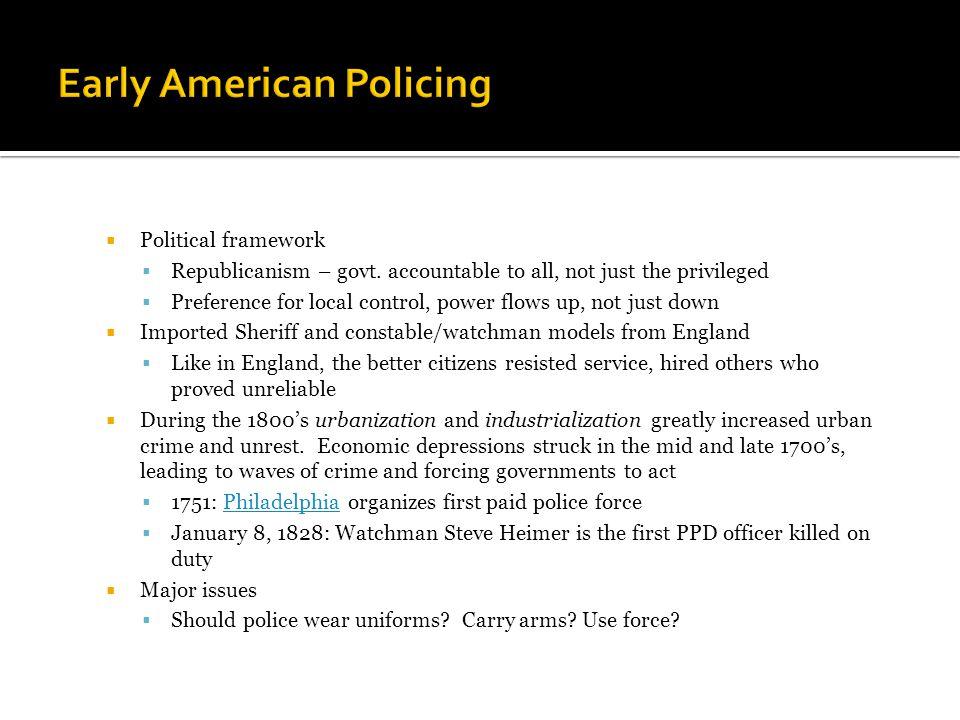  Political framework  Republicanism – govt.
